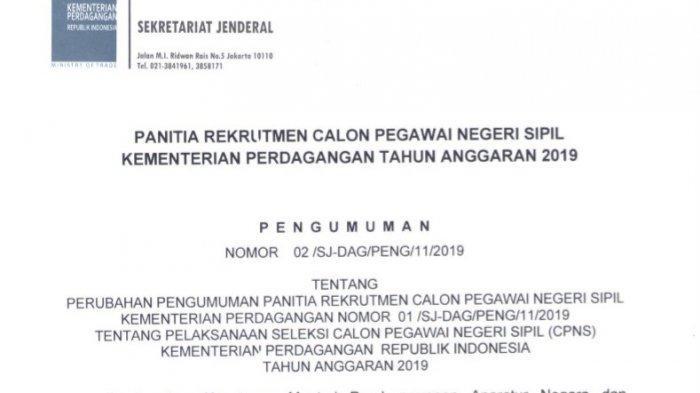 Pendaftaran Ditutup Hari Ini, Ini Jadwal Seleksi CPNS 2019 di Kementerian Perdagangan