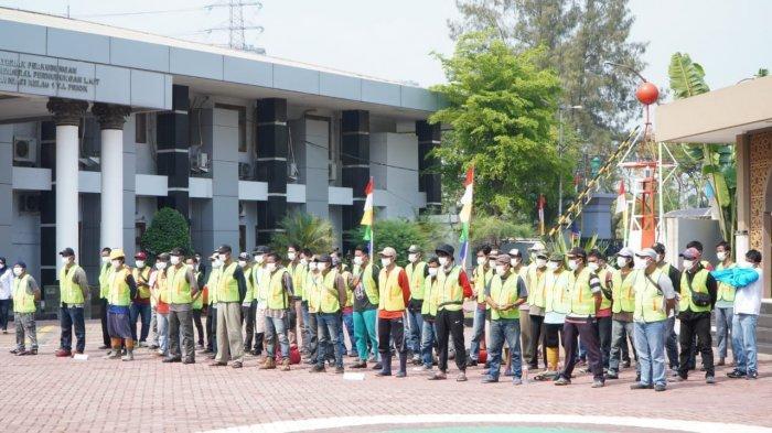 Tingkatkan Keamanan di Lingkungan Kerja, Kemenhub Gelar Padat Karya di Lima UPT Ditjen Hubla Jakarta