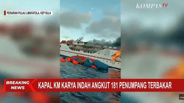Tim Reaksi Cepat Kemenhub dan Unsur SAR Terkait Telah Evakuasi Penumpang dan ABK KM Karya Indah