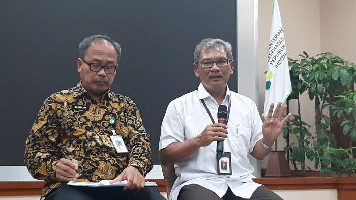 Sekretaris Direktorat Jenderal Pencegahan dan Pengendalian Penyakit Kementerian Kesehatan Achmad Yurianto saat ditemui di Kementerian Kesehatan, Jakarta Selatan, Selasa (3/3/2020)