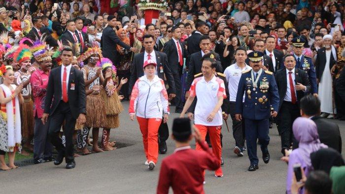 Menko PMK Laporkan Pelaksanaan Torch Relay pada Presiden