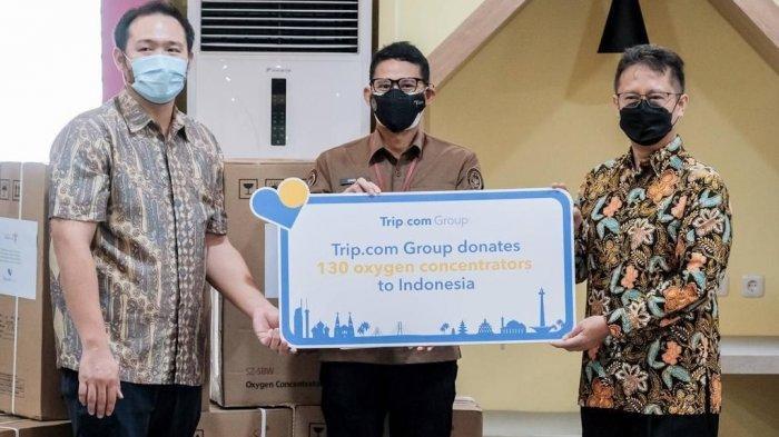 Kemenparekraf Serahkan Donasi Oksigen Konsentrator dari Trip.com Ke Kementerian Kesehatan