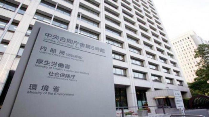 Kantor kementerian tenaga kerja dan kesehatan Jepang di Kasumigaseki Tokyo Jepang