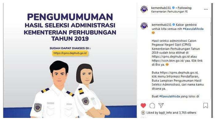 Kementerian Perhubungan CPNS 2019