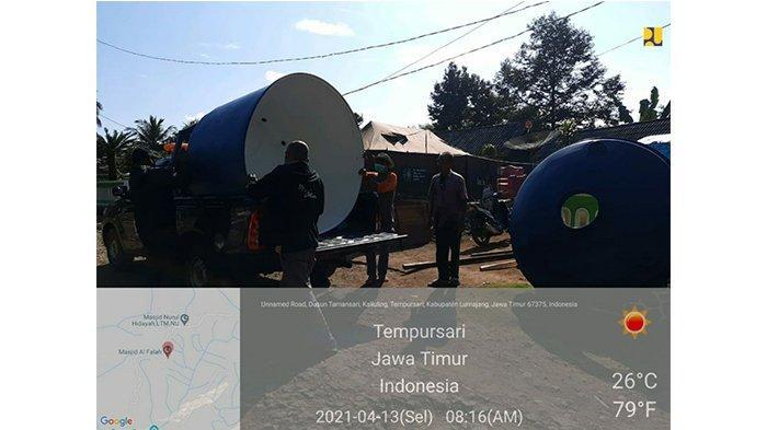 Kementerian PUPR memberikan 5 unit HU kapasitas 1.000 liter dan 5 unit HU kapasitas 2.000 liter