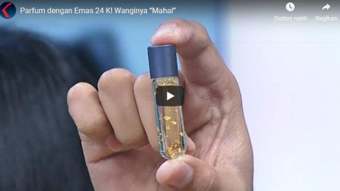 Kemewahan Emas 24 Karat Hadir di Dalam Botol Minyak Wangi