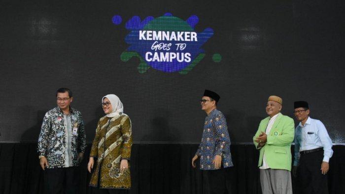 Buka Kemnaker Goes to Campus di Unusia, Ida Fauziyah Perkenalkan Potensi Mahasiswa di Pasar Kerja