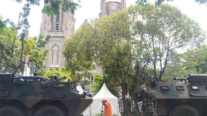 Jelang Ibadat Jumat Agung, TNI-Polri Fokus Pengamanan di 6 Titik Gereja Katedral Jakarta
