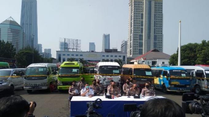 Antisipasi Mudik Lebaran, Polisi Tilang dan Amankan 115 Mobil Trayek Gelap ke Berbagai Tujuan