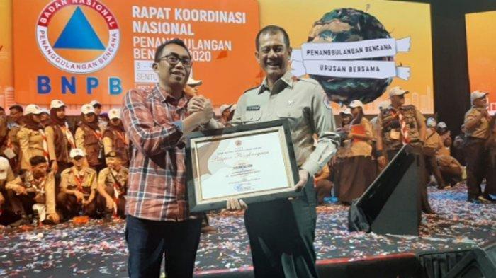 Tribunnews.com Raih Penghargaan dari BNPB, Berperan Aktif Penyebaran Informasi Kebencanaan