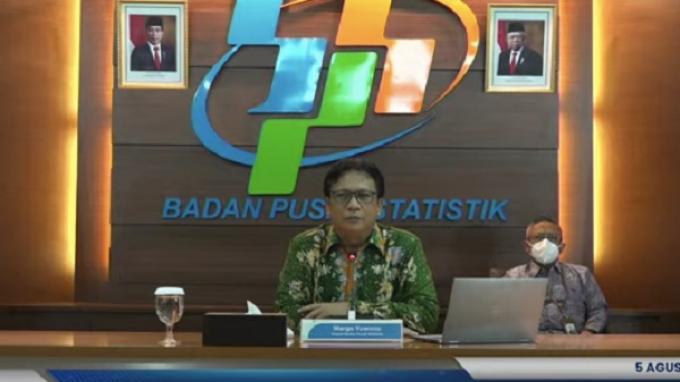 BPS: Indonesia Keluar dari Resesi, Pertumbuhan Ekonomi Triwulan II Melesat 7,07 Persen