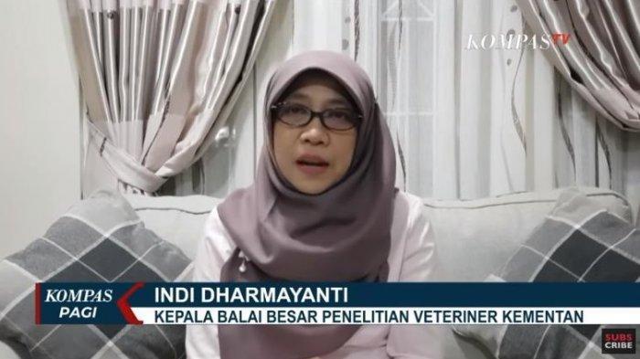 Kepala Balai Besar Penelitian Veteriner Kementan, Indi Dharmayanti menyampaikan penjelasan terkait rencana produksi massal dari kalung antivirus.