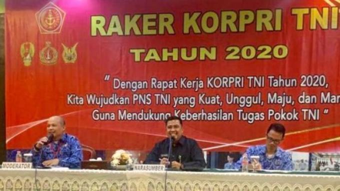 Hal-hal yang Jadi Pembahasan dalam Raker Korpri TNI 2020