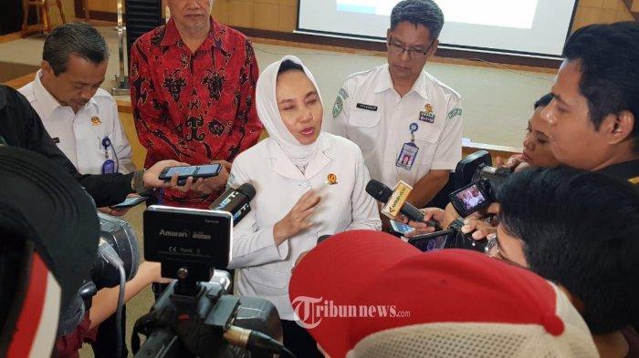 Kepala BMKG Dwikorita Karnawati ketika menyampaikan himbauan mengenai cuaca pada saat Mudik Lebaran 2019 kepada Rekan Media, Rabu (29/05/2019) di Jakarta. TRIBUNNEWS.COM/IST