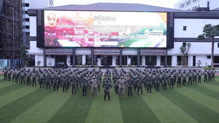 KSAD Berangkatkan 100 Prajurit Untuk Latihan Bersama Garuda Airborne di Amerika Serikat