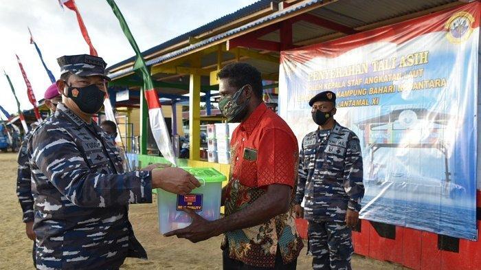 KSAL Tinjau Kampung Bahari Nusantara di Merauke Papua