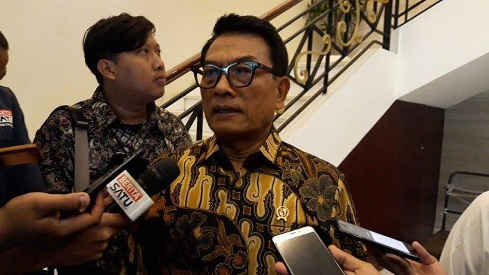 Kepala Staf Kepresidenan (KSP) Moeldoko di Kompleks Istana Kepresidenan, Jakarta, Senin (17/2/2020).