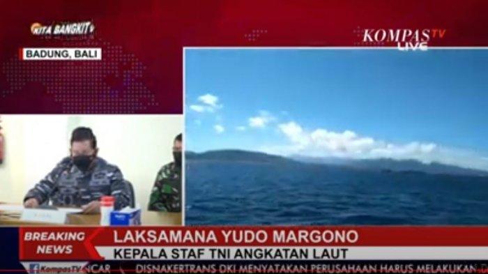 Kepala Staf TNI Angkatan Laut Laksamana TNI Yudo Margono beberkan riwayat penggunaan kapal selam KRI Nanggala 402 yang hilang kontak pada hari Rabu (21/4/2021) di Perairan Laut Utara, Bali, Kamis (22/4/2021).