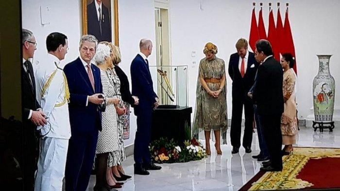 Presiden Jokowi Terima Keris Pangeran Diponegoro dari Raja dan Ratu Belanda