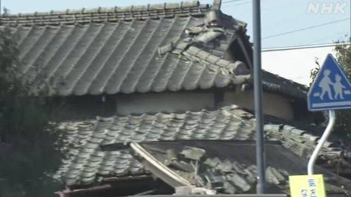 Puluhan Rumah, Bangunan Serta Fasilitas Umum di Jepang Timur Rusak Terdampak Gempa 7,3 Magnitudo