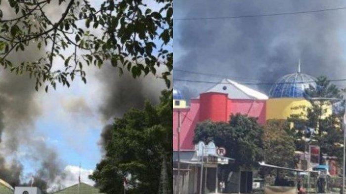 Update Rusuh di Wamena - Pegawai Selamatkan Diri Lompat dari Lantai 2 Supermarket yang Dibakar Massa