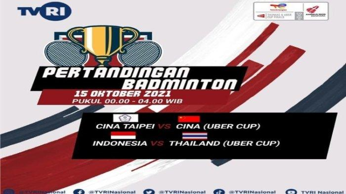 Live Streaming Indonesia vs Thailand di Perempat Final Piala Uber 2021, Akses TVRI Pukul 00.00 WIB
