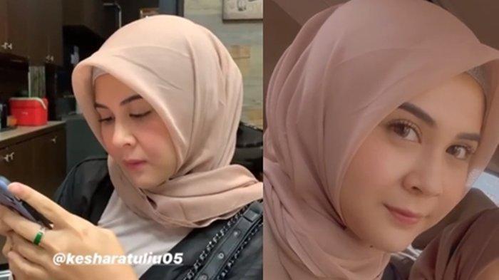 Kesha Ratuliu Belajar Pakai Hijab Jelang Dilamar Kekasih, Suami Mona Ratuliu sampai Nangis Terharu
