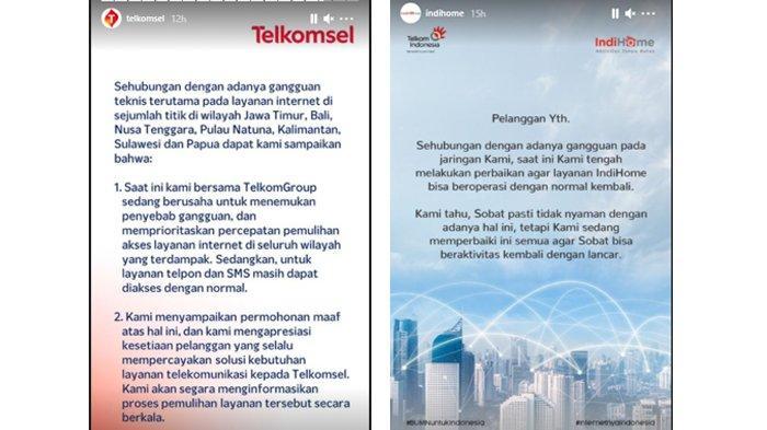 Internet IndiHome dan Telkomsel Gangguan, Ini Penyebab dan Wilayah yang Terdampak