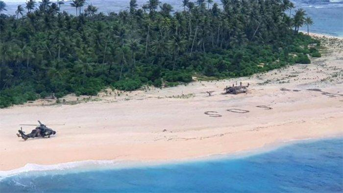 3 Pelaut Terdampar di Pulau Tak Berpenghuni, Selamat Setelah Tuliskan 'SOS' Raksasa