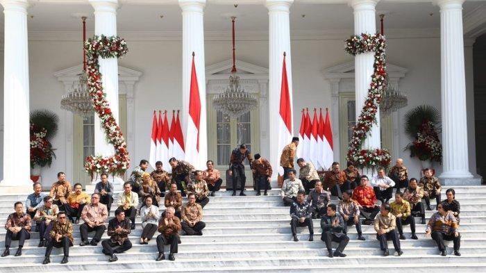 Presiden Joko Widodo resmi mengumumkan nama-nama menteri pada masa pemerintahan Jokowi-Ma'ruf Amin Rabu (23/10/2019).