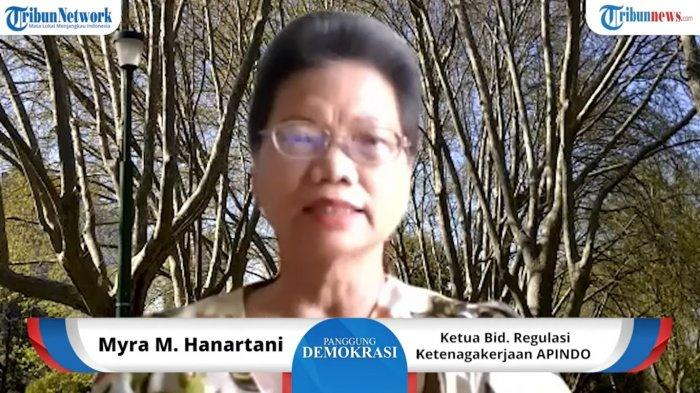 Ketua Bidang Regulasi Ketenagakerjaan Asosiasi Pengusaha Indonesia (APINDO), Myra M. Hanartani  s