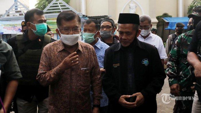 Kunjungi Lokasi Bom Katedral Makassar, JK Minta MUI Tak Undang Penceramah Radikal di Bulan Ramadan