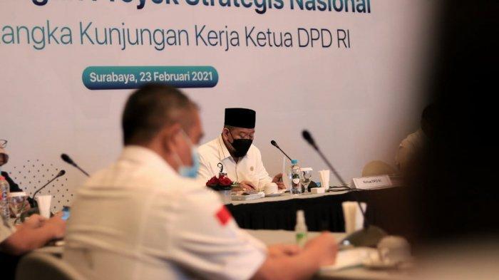 Ketua DPD RI Minta Pembebasan Lahan Berlaku Adil