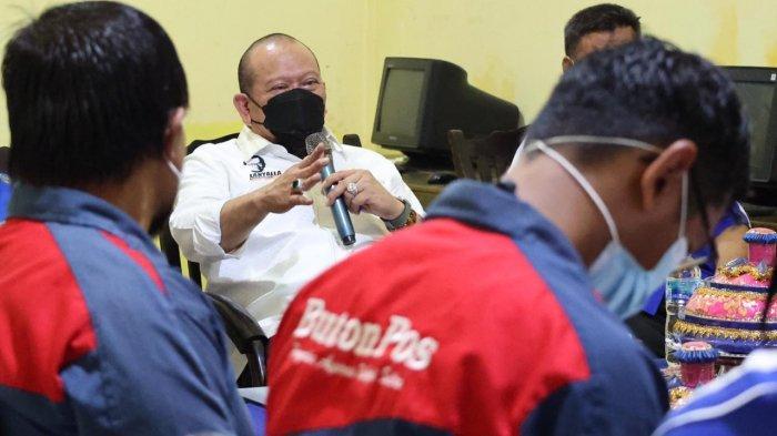 Kunjungi Buton Pos, LaNyalla Singgung Amandemen ke-5 Konstitusi dan Aspal Buton