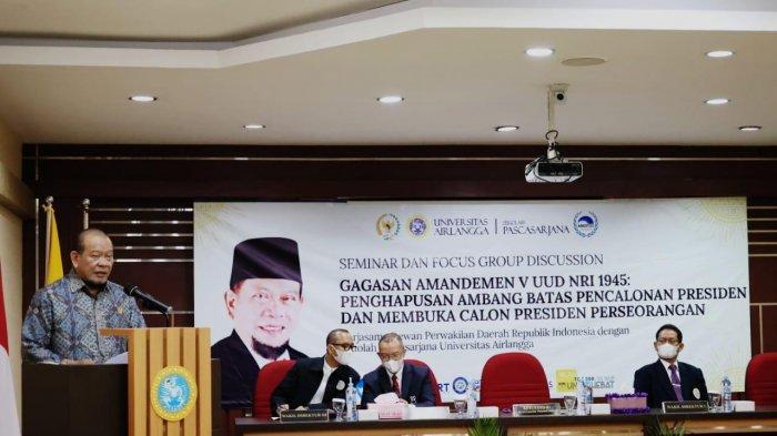 Amandemen Terdahulu Kebiri Hak Non-Partisan, Ketua DPD RI: DPD Bisa Ajukan Capres Itu Rasional