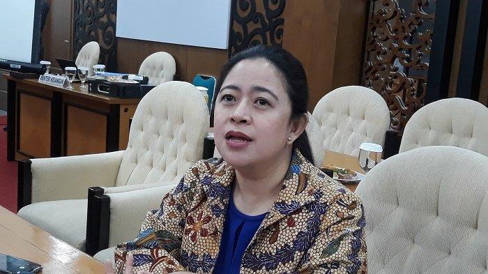 Ketua DPR Puan Maharani di Kompleks Parlemen, Senayan, Jakarta, Senin, (16/12/2019).