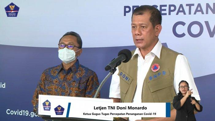 Ketua Gugus Tugas Percepatan Penanganan Covid-19, Doni Monardo (Tangkap layar channel YouTube BNPB)