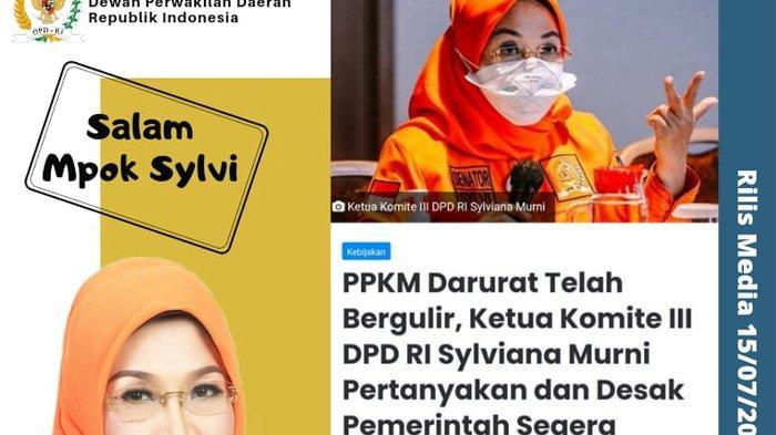Ketua Komite III DPD RI Sylviana Murni Desak Pemerintah Segera Salurkan Bansos