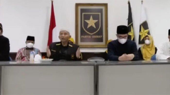 Ketua Majelis Syuro Partai Ummat Amien Rais dalam diskusi publik 'Perspektif Dari Jogja Untuk Indonesia 2024, Minggu (5/9/2021).