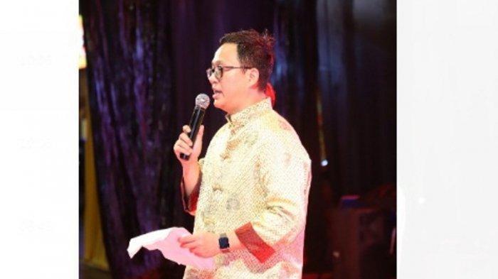 Ketua Panitia Rudy Halim saat menyampaikan sambutan dalam acara Cap Go Meh TMP di PIK Jakarta.