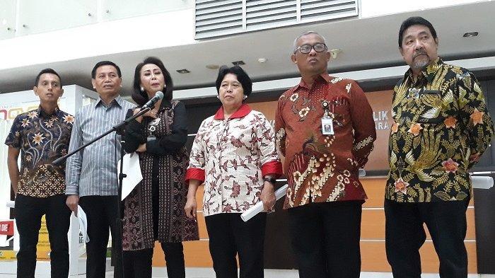 Ketua Pansel Capim KPK, Yenti Garnasih di Kantor Sekretariat Negara, Jl Veteran, Jakarta Pusat, Kamis (11/7/2019).