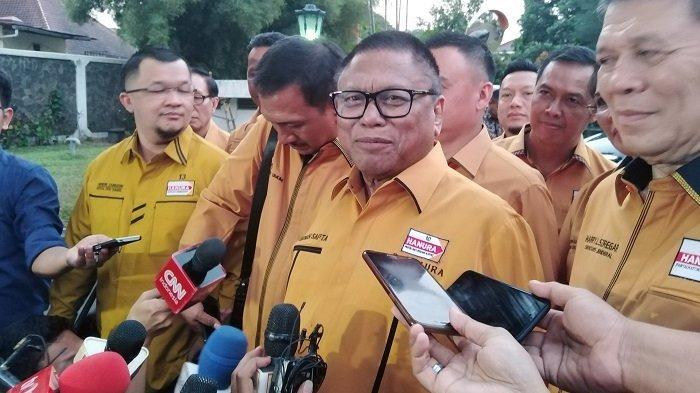 Ketua Partai Hanura Oesman Sapta Odang di Istana Bogor, Rabu (24/7/2019).