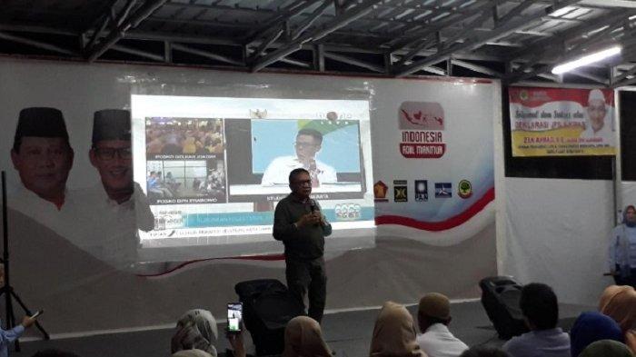 M. Taufik: Energi Positif Relawan Tersalurkan ke Prabowo-Sandi
