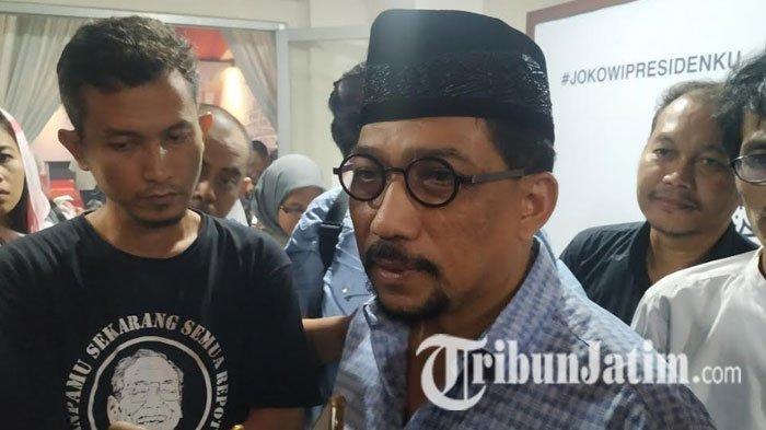 Ketua TKD Jatim Machfud Arifin saat ditemui usai Doa Bersama Lintas Agama di Kantor TKD Jatim