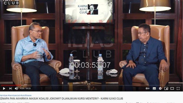 Ketua Umum PAN, Zulkifli Hasan dalam wawancara di Karni Ilyas Club