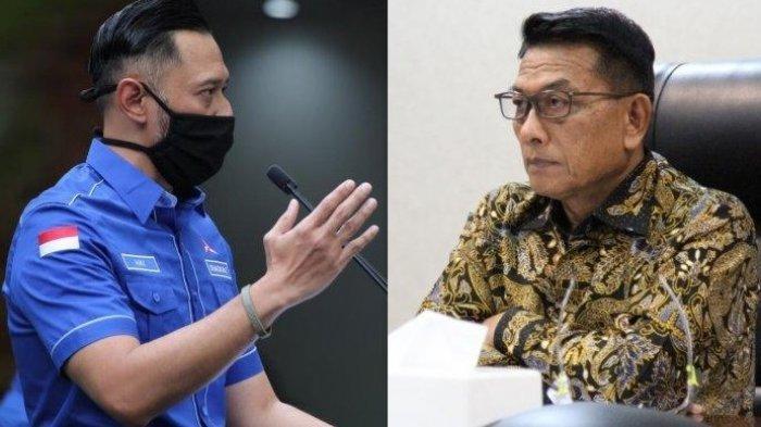 Ketua Umum Partai Demokrat, Agus Harimurti Yudhoyono (AHY) dan KSP, Moeldoko