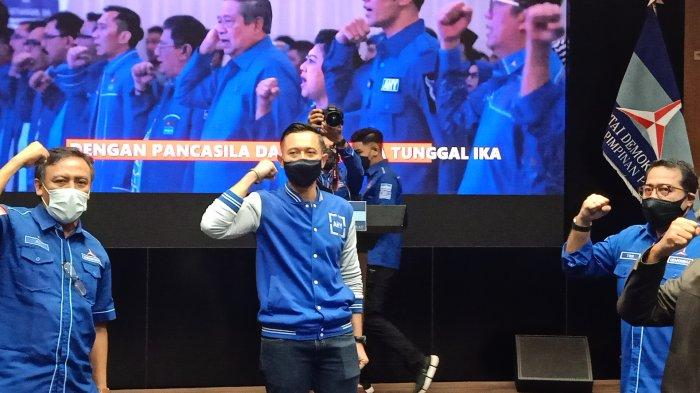 Ketua Umum Partai Demokrat Agus Harimurti Yudhoyono (AHY) di Jakarta, Senin (8/3/2021)