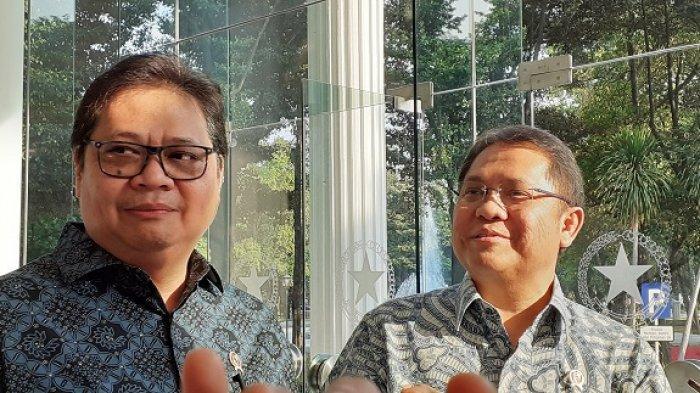 Ketua Umum Partai Golkar Airlangga Hartanto di Kantor Wakil Presiden, Jalan Medan Merdeka Utara, Jakarta Pusat, Kamis (25/7/2019).
