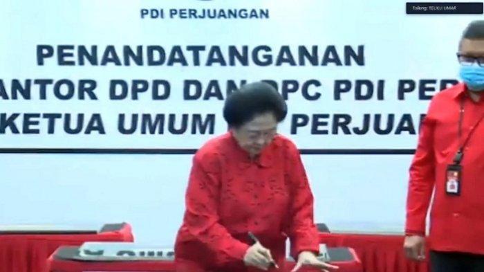 Megawati Resmikan 20 Kantor PDIP Secara Virtual
