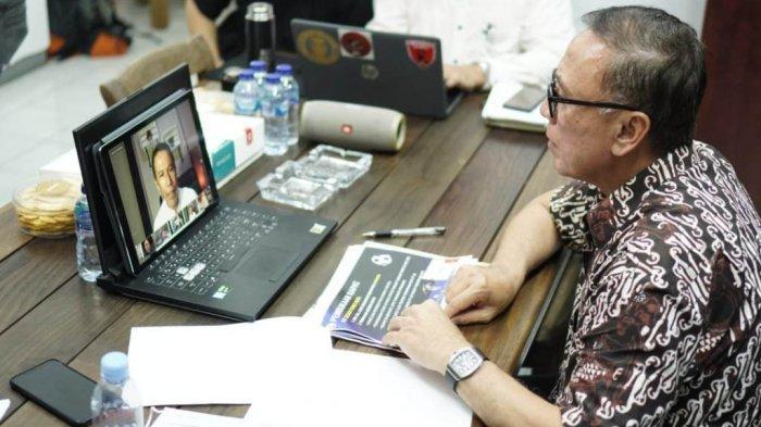 Ketua Umum PSSI, Mochamad Iriawan saat memimpin rapat Exco PSSI secara virtual yang membahas persiapan Piala Dunia dan kelanjutan Liga 1 dan 2 2020.